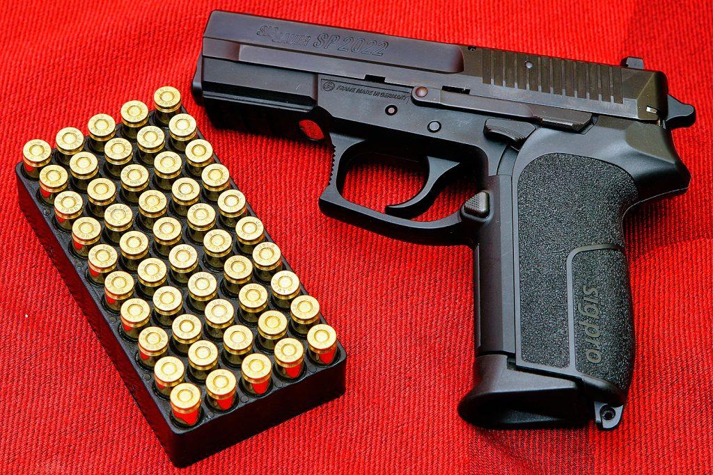 restricted firearms - handgun with ammunition